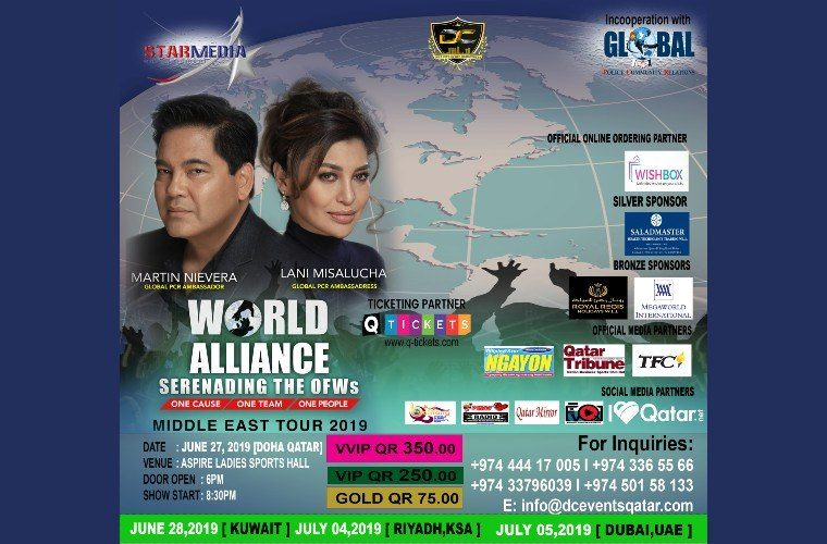 Martin Nievera and Lani Misalucha in Qatar