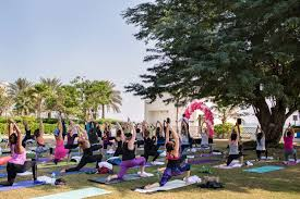 International Yoga Day- Sheraton Grand Doha Resort
