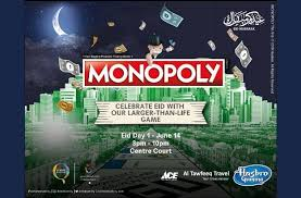 Play giant live version of Monopoly