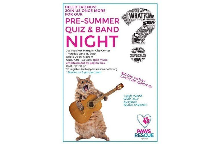 June Quiz Night by Paws Rescue Qatar
