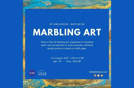Marbling Art at Katara Art Centre