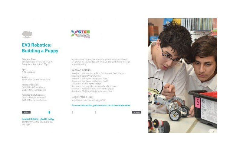 EV3 Robotics: Building a Puppy at Qatar Foundation