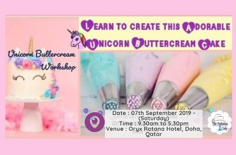 Unicorn Buttercream Cake Workshop at Oryx Rotana
