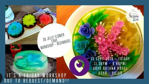 3D Jelly Flower Cake Workshop - Beginners (Friday)