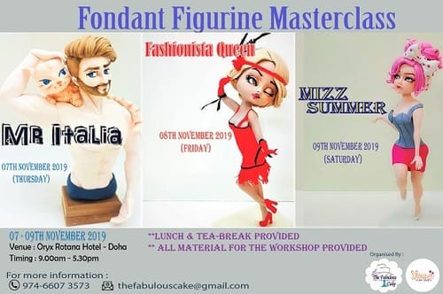 Fondant Figurines MasterClass by The Fabulous Cake