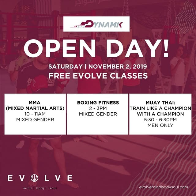 Free Evolve Martial Arts Classes in Dynamik Gym Pearl
