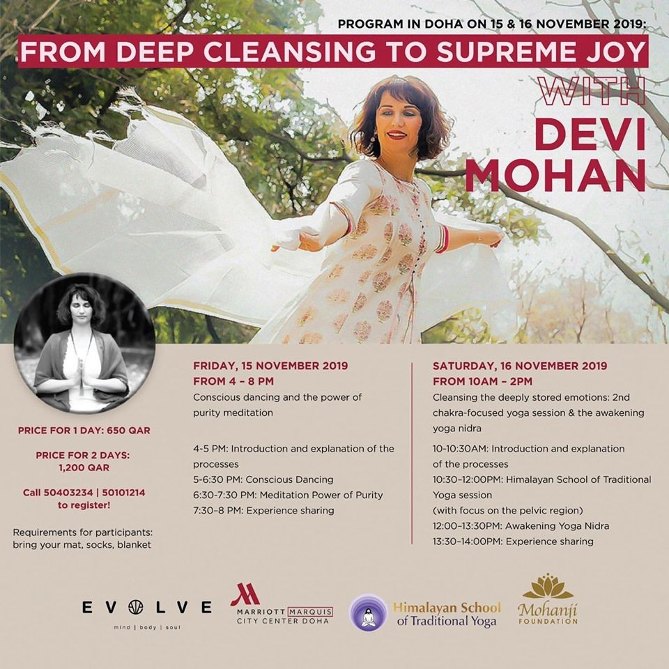 """From Deep Cleansing to Supreme Joy"" Yoga workshop"