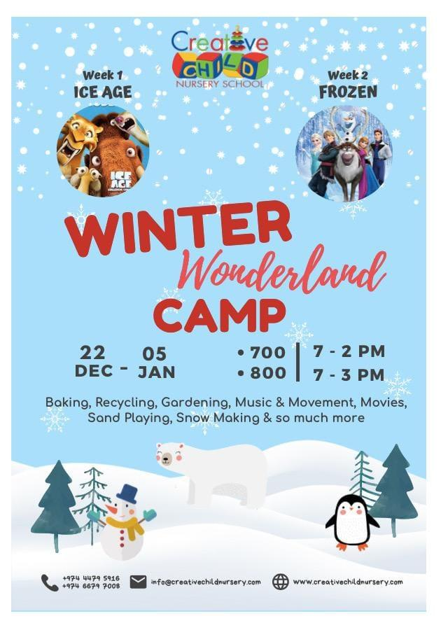 Winter Camp at Creative Child Nursery