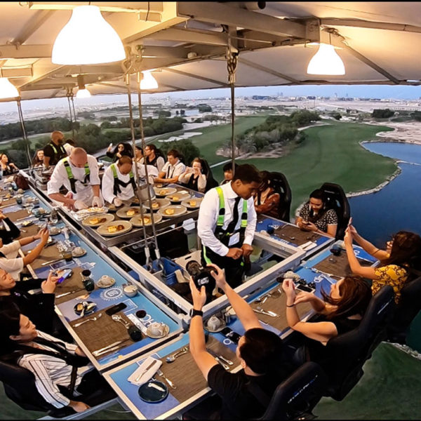 Dinner in the Sky - Doha Golf Club