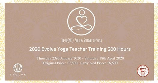 Evolve Yoga Teacher Training 2020