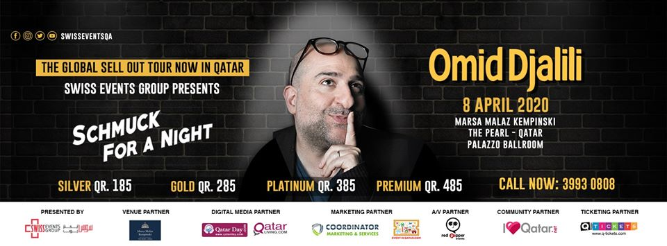 Omid Djalili stand up comedy LIVE in Doha