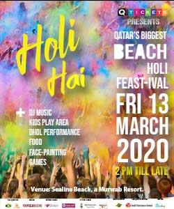 Holi 2020 at Sealine Beach