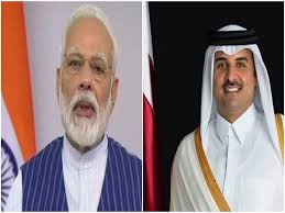 Amir of Qatar hold talks with Indian PM