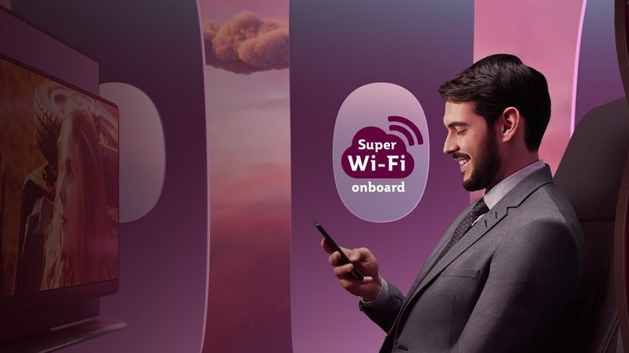 Qatar Airways fits 100th aircraft with 'Super wifi'