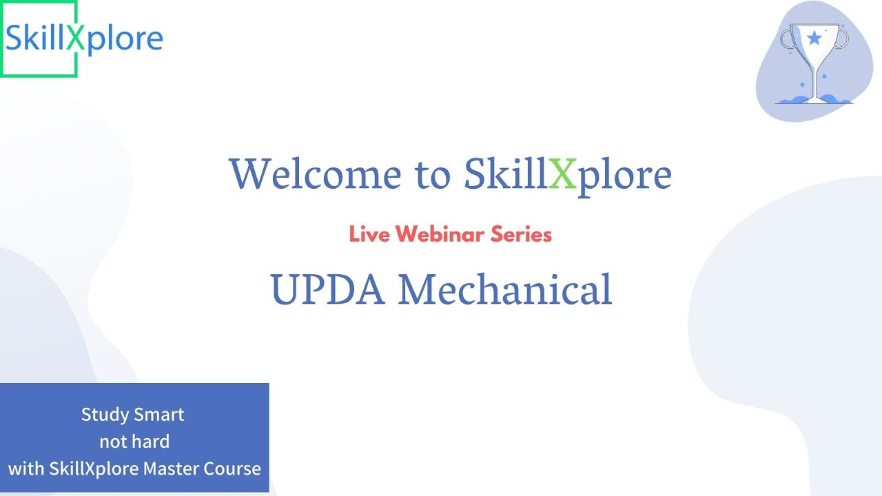UPDA Mechanical Exam Webinar for Exam Preparation